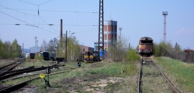 Nádraží Česká Třebová, kde se likvidují staré lokomotivy