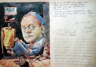 Kresba z kroniky Golfového klubu Líšnice, duben 1949. Zobrazuje člena klubu Zdeňka F. Klana ve vězení. Někdejší majitel farmaceutického podniku byl v listopadu 1948 zatčen a odsouzen na dva a půl roku. Zemřel krátce po návratu z vězení v roce 1951, v nedožitých 57 letech.