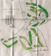 Návrh nerealizovaného hřiště Golf Clubu Praha z třicátých let, na okraji Prahy v Chodově. Jde o prostor východní části dnešního Milíčovského lesa, severně je dnes Jižní Město. Rybníky Vrah a Homolka zapojené do návrhu dodnes existují. Autorem návrhu byl Josef Charvát. Nakonec si Golf Club Praha vybral lokalitu v Klánovicích, kde také vybudoval podle Charvátova návrhu hřiště; v roce 1938 bylo otevřeno prvních devět jamek.