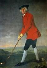 Vyobrazení golfového funkcionáře konce 18. století