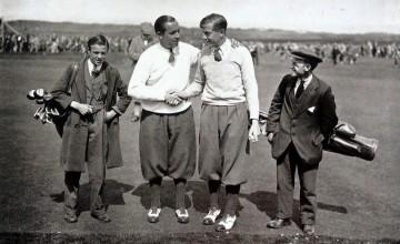 Vždy elegantní: Walter Hagen (vlevo), vpravo budoucí britský šampión Henry Cotton.