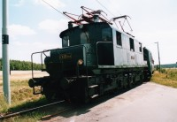 Historická elektrická lokomotiva na trati Bechyně-Tábor