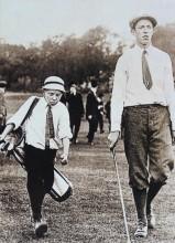 Takto vešli do historie. Velký Francis Ouimet a jeho malý desetiletý kedík Eddie Lowery při US Open 1913