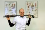 Tomáš Gryc ve sportovní laboratoři na pražské Fakultě tělesné výchovy a sportu