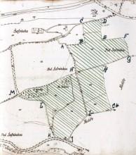 Plán motolského meziválečného hřiště
