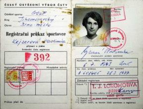 Registrační průkaz musel mít každý, kdo byl členem sportovního oddílu. Zde šlo o oddíl golfu při TJ Lokomotiva Brno. Oddíl působil na svrateckém hřišti. Průkaz pochází z roku 1977. Foto: archiv Golf Club Svratka 1932