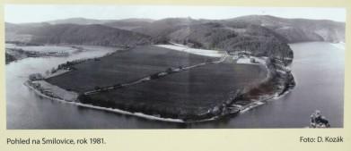 Historické foto: pohled na Smilovice od Albertových skal