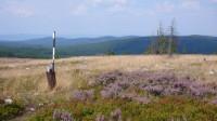 Na vrcholu Tok (864 m), kde je dopadová plocha