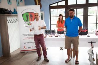 Tvůrci akce: vlevo Andrej Halada, vpravo hlavní organizátor Martin Raufer