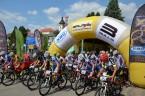 Start cyklistického závodu v Jistebnici
