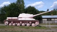Řůžový tank v muzeu v Lešanech