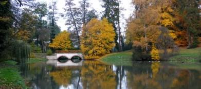 Zahrada zámku Opočno ve východních Čechách