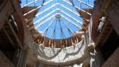 Prosklená střecha po rekonstrukci