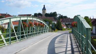 Železný most v Putimi z konce 19. století