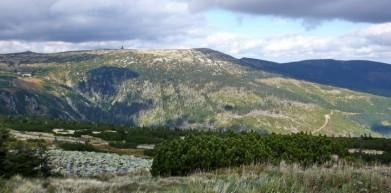 Krkonoše, pohled na Vysoké kolo - v pozadí
