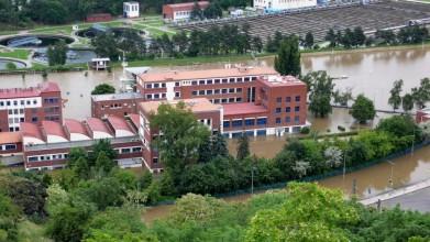 Výzkumný ústav vodohospodářský v Praze-Podbabě pod vodou