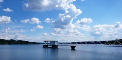 Vodní nádrž Želivka, odběrný objekt pro vodu, kterou pije celá Praha