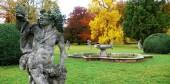 Park u zámku Valeč, socha boha Dionýsa, dílo M. B. Brauna