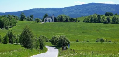 Šumava, u obce Pěkná, cestou k nádrži Lipno