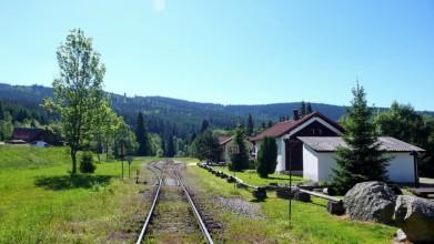 Kubova huť, nejvyšší stanice železnice v Česku