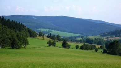 Údolí Horních Albeřic, v pozadí Rýchory