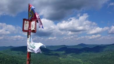 Z vrcholku Klíče směrem do centra Lužických hor