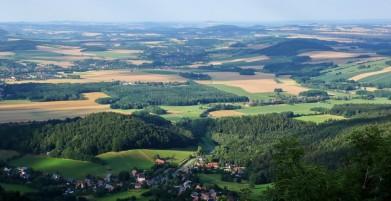 Vrcholek Luže, pohled do Německa