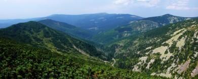 Údolí Bílého Labe, v pozadí západní Krkonoše