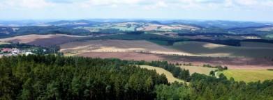 Střední Čechy, z rozhledny Mokrsko