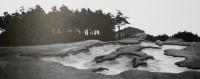 Hřiště v Karlových Varech v poválečné době. Tento pískový bankr najdeme na hřišti dodnes.