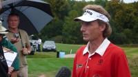 Bernahrd Langer po svém vítězství na Casa Serena Open v roce 2008. Každá návštěva špičkových hráčů jako je Langer posouvá český golf kupředu.