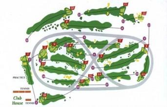 Golf de Compiegne, 1896, hrál se zde první golfový olympijský turnaj