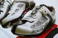Závodní cyklistická obuv.