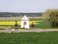 Pohoda v české kotlině: jarní příroda vždy přivede do krajiny mnoho cyklistů.