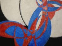 Amorfa (detail) Františka Kupky je klasickým abstraktním dílem