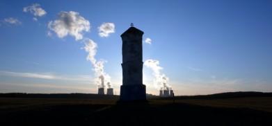 U Mohelna, v pozadí elektrárna Dukovany
