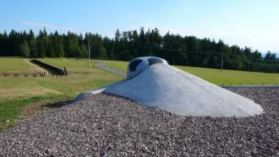 Pěchotní srub Na holém, u silnice Bartošovice-Rokytnice v Orlických horách