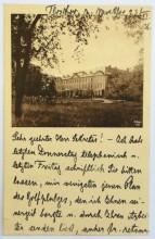 Dopis ze zámku Tloskov u Sedlčan, kde nakonec vznikly tři jamky